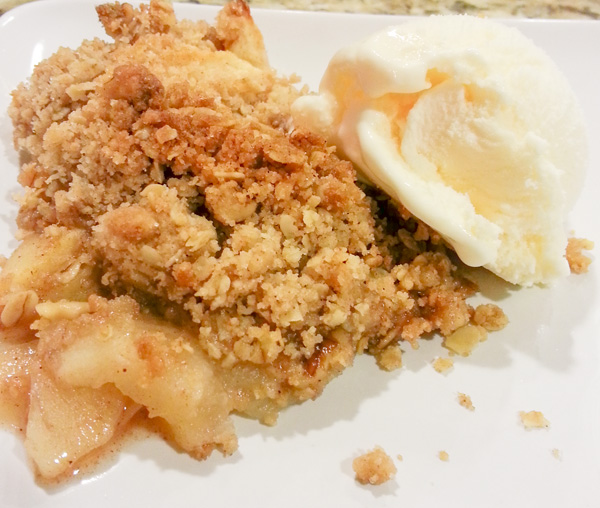 Easy Apple Crisp and Homemade Ice Cream