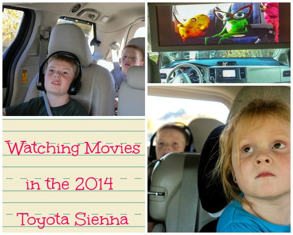 Monsters University in the 2014 Toyota Sienna
