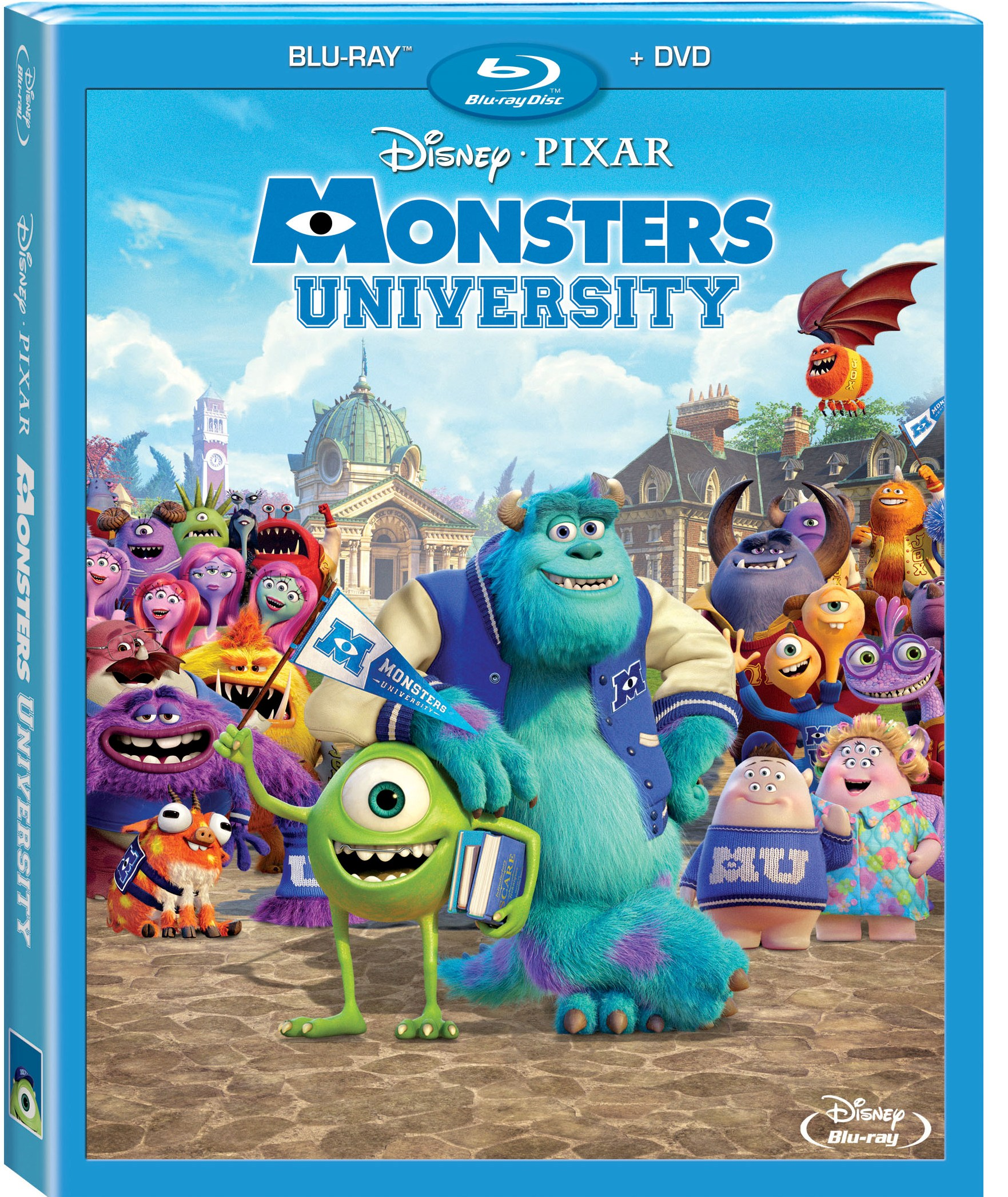 Monsters University Blu-ray Combo Art