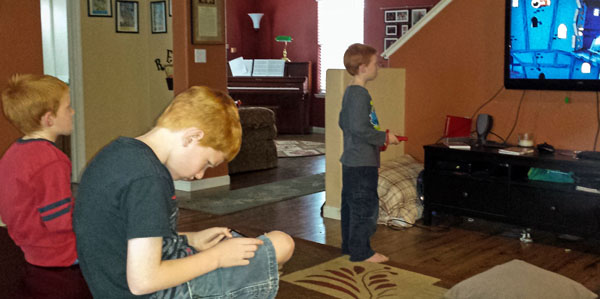Boys playing video games #SproutMOMent