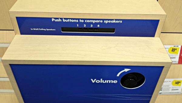 Testing Speakers at Best Buy #shop