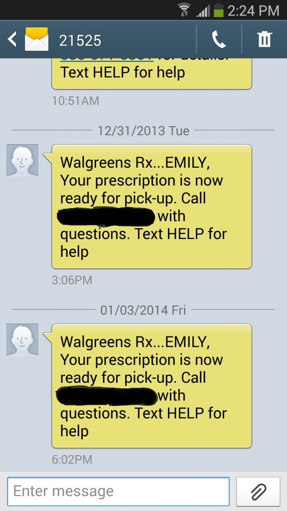 Walgreens Pharmacy Text #WalgreensRX #shop