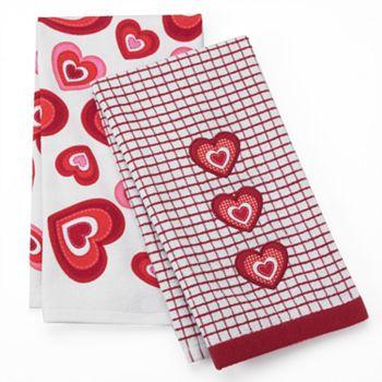 Valentine's Day Dish Towels