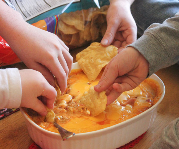 Chili Cheese Dip for an easy appetizer, or even dinner!