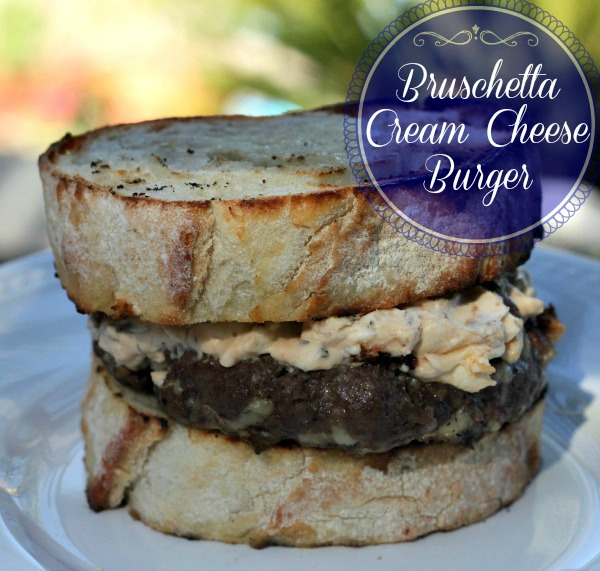 Bruschetta Cream Cheese Burger