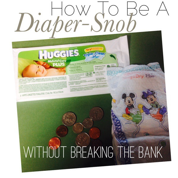 How to be a Diaper Snob without Breaking the Bank: Save on Diapers and Wipes