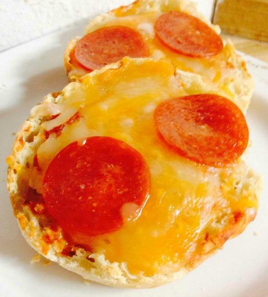 Homemade MIni Pepperoni Pizzas