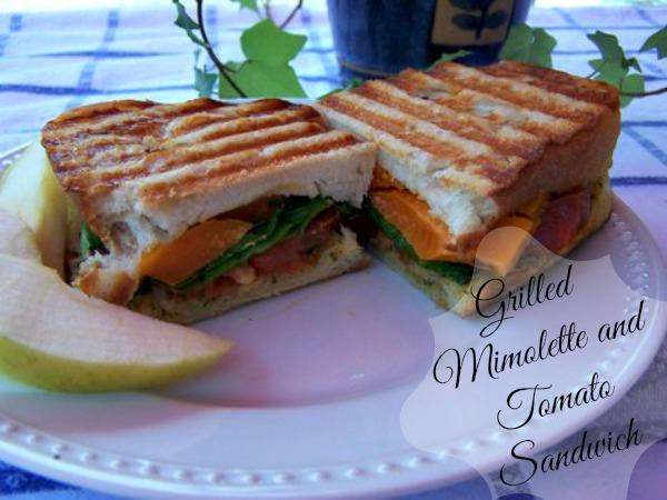 Grilled Mimolette and Tomato Sandwich