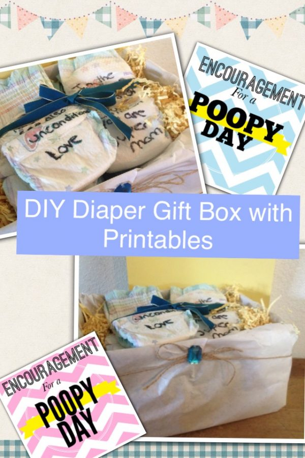DIY Diaper Gift Box with Printables