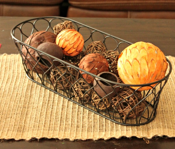 BHG Bread Basket with Fall Balls