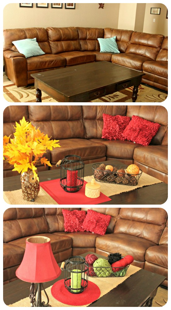 Family Room Makeover Simple Fall to Winter Home Decor