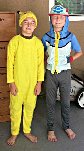 Pikachu and Ash Ketchum Costumes