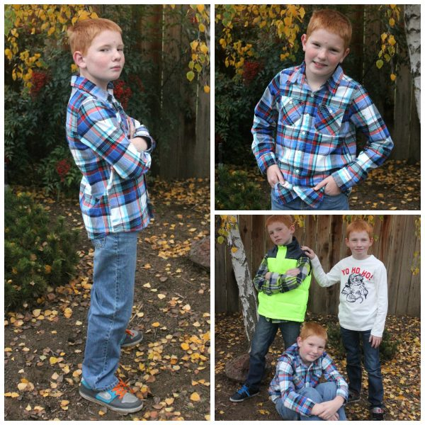 Boys Plaid shirt and Jeans