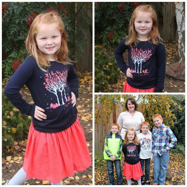 Girl's Corduroy Skirt and Top