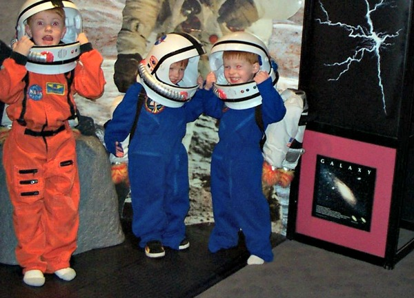 Kids Dressed as Astronauts