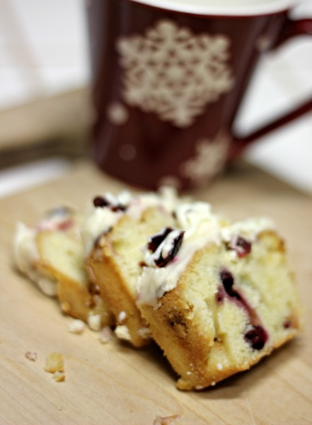 Decadent Christmas Cranberry and White Chocolate Pound Cake