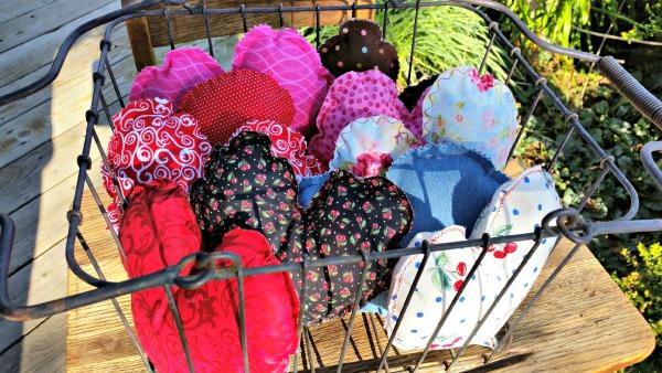 DIY Fabric Stuffed Hearts