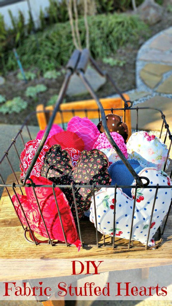 Basket Full O' Love DIY Fabric Stuffed Hearts
