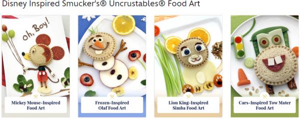 Disney Inspired Smucker's Uncrustables Art