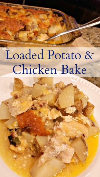 Loaded Potato and Chicken Bake