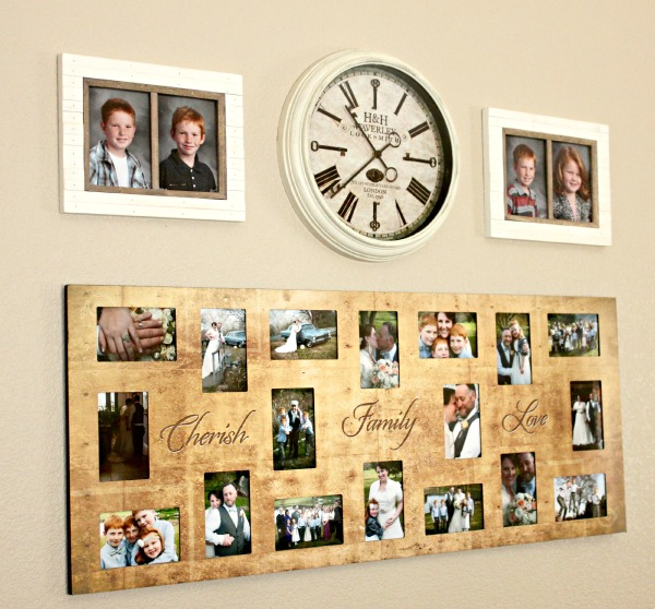 Rustic Photo Frames and Clock