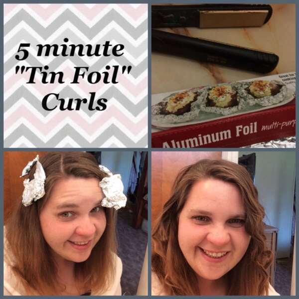5-Minute  Tin-Foil Curls Tutorial + My 30 Day Hair Challenge + Giveaway