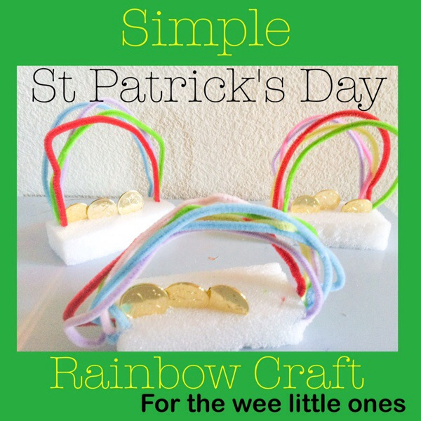 Simple St. Patrick's Day Rainbow Craft for the Wee Little Ones
