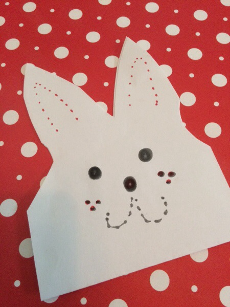 These adorable little bunny bags are so easy to make, using supplies you already have at home