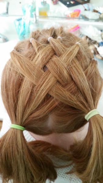 Basket Weave Pigtails