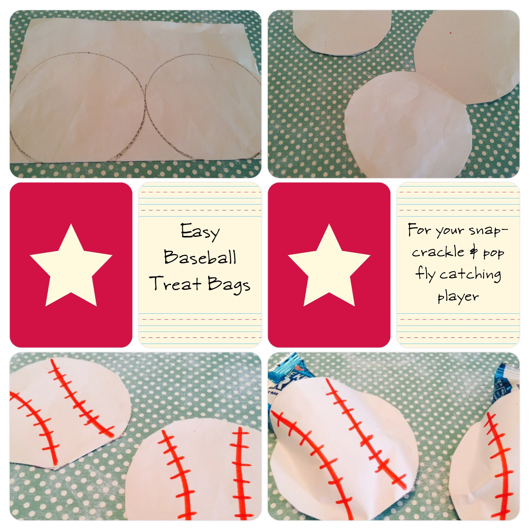 Easy Baseball Treat Bags with printable