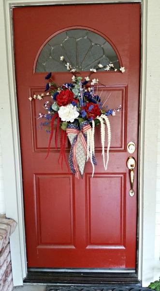 Patriotic Floral for the front door