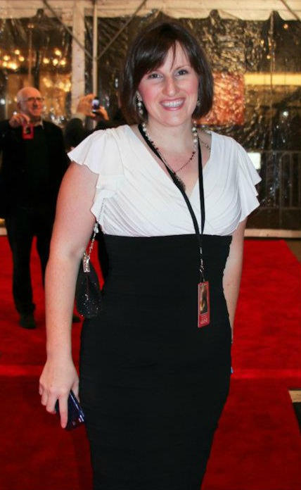 Emily on the red carpet