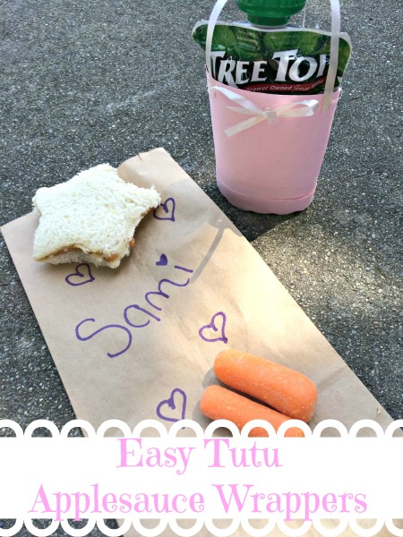 Easy Tutu Applesauce Wrappers