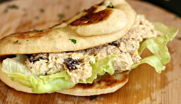 Curried Tuna Salad with Homemade Naan Bread