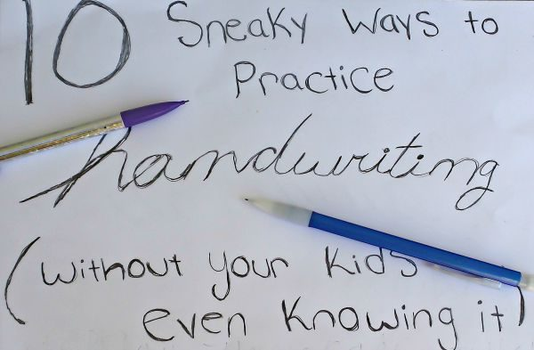 10 Sneaky Handwriting Practice Tips