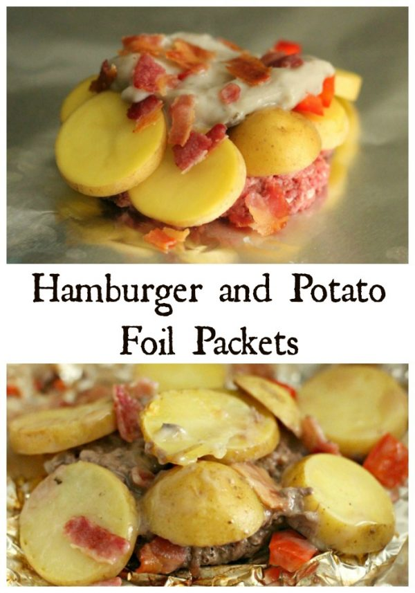 Hamburger and Potato Foil Packets on the Grill