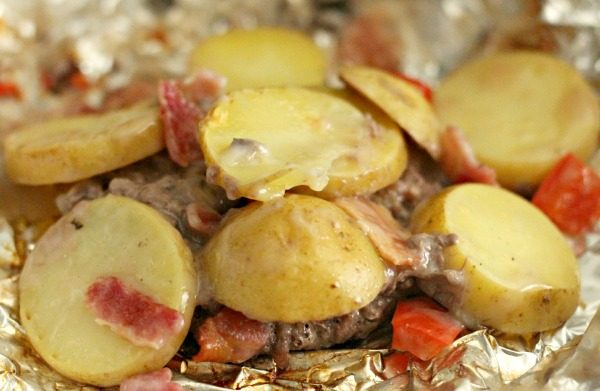 Hamburger and Potato Foil Packets