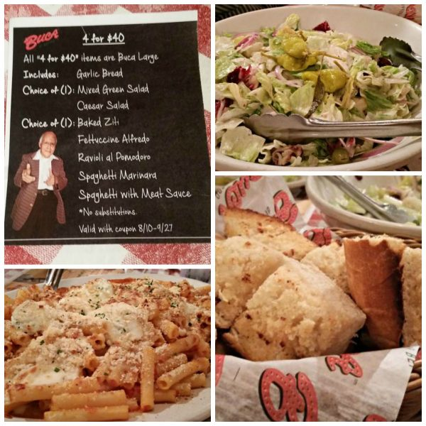 Feed 4 for $40 at Buca di Beppo