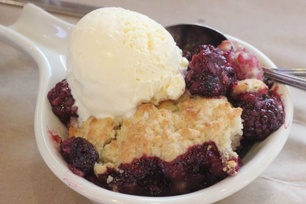 Fresh and Local Blackberry Cobbler from Dancing Tomato Caffe