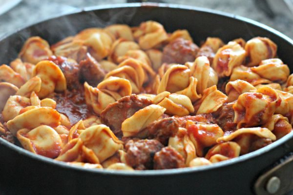 Tortellini and Sausage Skillet