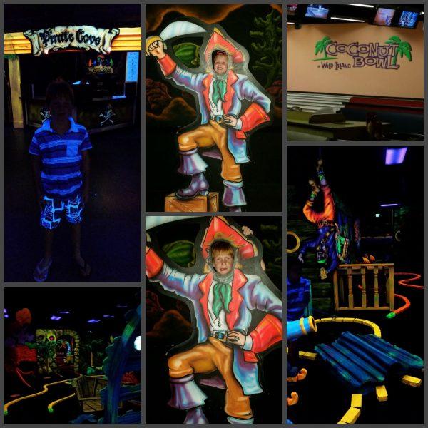Wild Island Family Adventure Black Light Mini Golf and Bowling