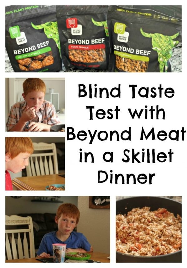 Blind Taste Test with Beyond Meat in a Skillet Dinner