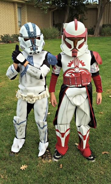 Clone Trooper and Commander Fox Costumes