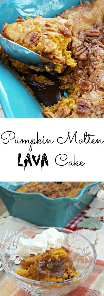 Pumpkin Molten Lava Cake with Pecans and White Chocolate