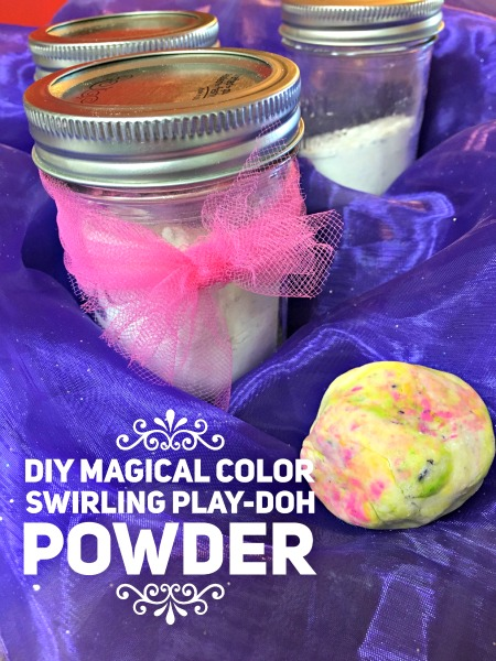 DIY Magical Color Swirling Playdough Powder for Your Little Charmers