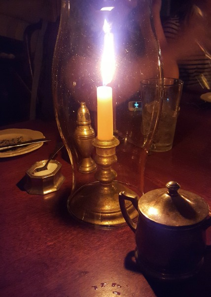 Candlelight dinner at King's Arms Tavern in Colonial Williamsburg