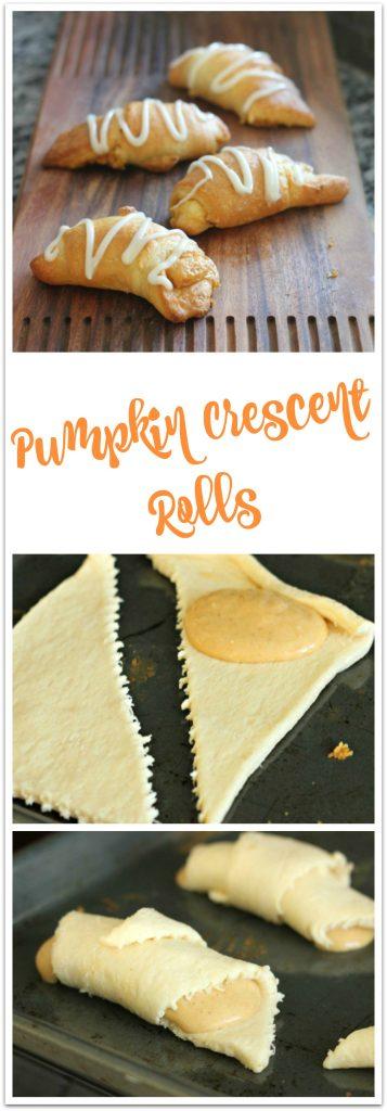 Pumpkin Crescent Rolls and Process