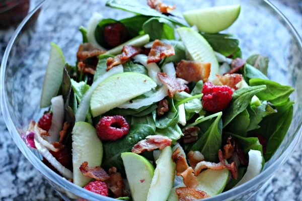 Raspberry and Bacon Salad