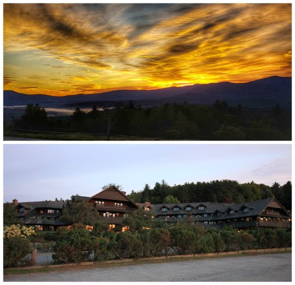 Sunset from the Von Trapp Family Lodge in Stowe VT