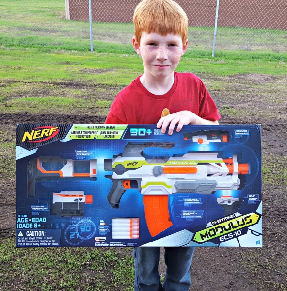 The N-Strike Elite Modulus ECS-10 Blaster is a Nerf Gun Must-Have